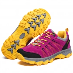 Women Outdoor Trekking Shoes Hiking Sneakers Sport Shoes Breathable Climbing Female Mountain Boots pink 36