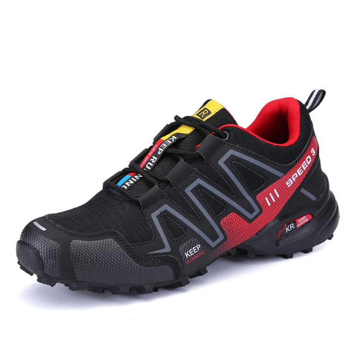 Big Size Mens Hiking Shoes Summer/Autumn Outdoor Low Cut Boots Lightweight Hiking Boot For Men red 39
