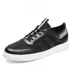 Autumn Man Leisure Shoes Soft Lightness Student Shoes Fashion Casual Shoes Man Skateboard Sneakers black 39