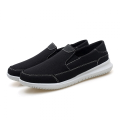 2018 Simple Men Casual Shoes Flats Canvas Nice Comfortable Loafers Denim Jeans Slip On Shoes black 39