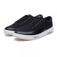 Men Casual Shoes 2018 Summer Breathable Hemp Shoes Soft Leisure Flat Light Loafer Lace Up Cool black 39