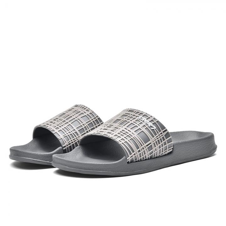 Men Shoes Solid Flat Bath Slippers Summer Sandals Indoor & Outdoor Slippers Home Casual Men Non-Slip grey 40