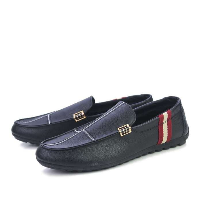 Cool Gentleman Men Driving Shoes PU Leather Man Slip On Comfortable Dress Loafers black 39