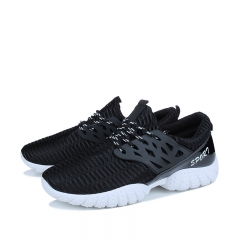 2018 New Running Shoes Man Korean Cool Spring Shoes Non-slip Light Breathable Sports Shoes black 39