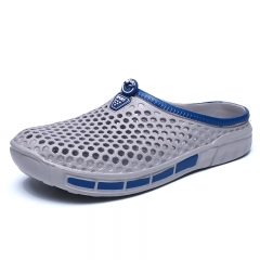 Summer Men Clogs Casual Shoes Mule Brand Slippers Garden Hole Shoes Water Beach Outdoor grey 40