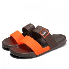 Beach Sandals Slippers Summer Outdoor Flats Non-slip Bathroom Home Slippers Men Casual Shoes brown 38