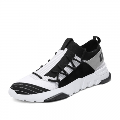 Luxury Brand Men Sport Shoes Breathable Sneakers Athletic Leather Shoes Light Soft Cool Outdoor black 39