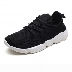 Basic Style Brand Men Sport Shoes Breathable Mesh Man Tennis Shoes Sneaker Casual black 39