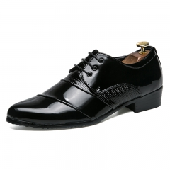 Luxury Leather Brogue Mens Flats Shoes Casual British Style Oxfords Fashion Dress Shoes black 39