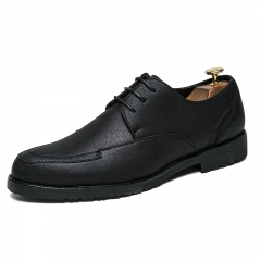 Men Formal Shoes Brand Leather Classic Business Gentleman Handsome High Quality Cool black 38