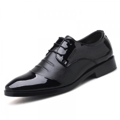 Big Size 38~48 Office Gentlemen Men Formal Shoes Pointed Toe Business Oxford For Men Dress Shoes black 38