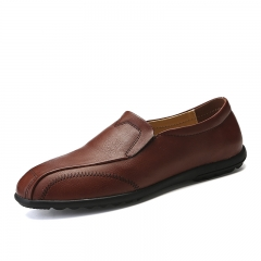 Big Size 38~47 Simple Style Men's Loafers Casual Shoes Breathable Designer Slip On High Quality brown 39