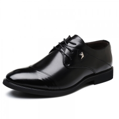 Luxury Brand Men Business Shoes Black Italian Design Fashion Oxford Shoes Formal Handsome black 38