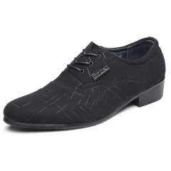 Luxury Business Shoes For Men Office Dress Men Flats Black Pointed Toe Gentelman Wedding black 38