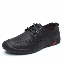 Brand New Men Shoes Formal & Smart Leather Trendy Street Cool Design Leisure Business Shoe black 39