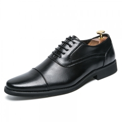 Bige Size 38~48 Luxury Men Dress Shoes Oxford Man Formal Business Cool Handsome Gentleman Footwear black 38