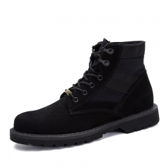 High Quality Winter Men Desert Boots Formal Autumn Shoes Casual High Top Warm Leather Footwear black 39