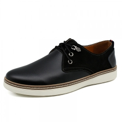Big Size Men Formal Shoes Genuine Leather Classic Business Gentleman High Quality Wingtip Brogues black 38