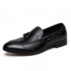 New Classic Elegant Italian Men Penny Loafer Formal Dress Wedding Shoes Luxury Style black 38