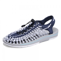 New Mens Sandals Summer Shoes New Beach Casual Shoes Outdoor Strap Design blue 39