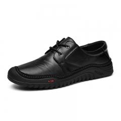 Gentlemen Men Formal Shoes Business Genuine Leather Oxford Dress Footwear black 38