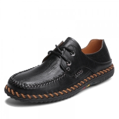 Cool Winter Autumn Handmade Leather Shoes Men Wingtip Oxfords Formal Driving Shoes black 38