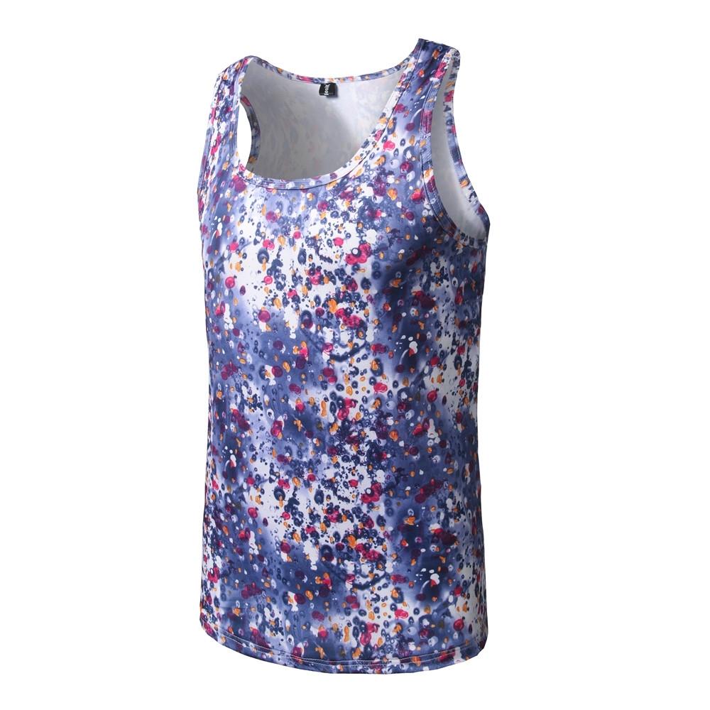 a9c46a9eb0ad 2017 new fashion men s 3D printing men s sleeveless T-shirt Colour ...