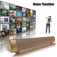Powerful Soundbar Super Bass Portable Bluetooth Wireless Speaker HIFI Speakers for TV Phone PC gold 17.75X2.2X2.1inch