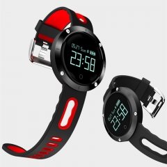 Heart Rate Smart Watch Bluetooth Waterproof Smart Bracelet Blood Pressure Smart Band for IOS Android grey&white 25cm