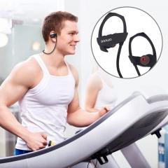 Bluetooth 4.1 Headset Sport Wireless Stereo Earphone Ear Hook IPX4 Waterproof Headphone black
