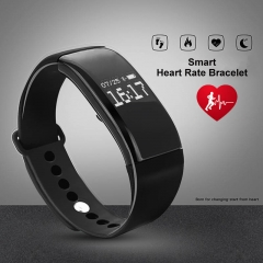 Sport Waterproof Smart Bracelet with Heart Rate Monitoring for Andriod and IOS black 26cm