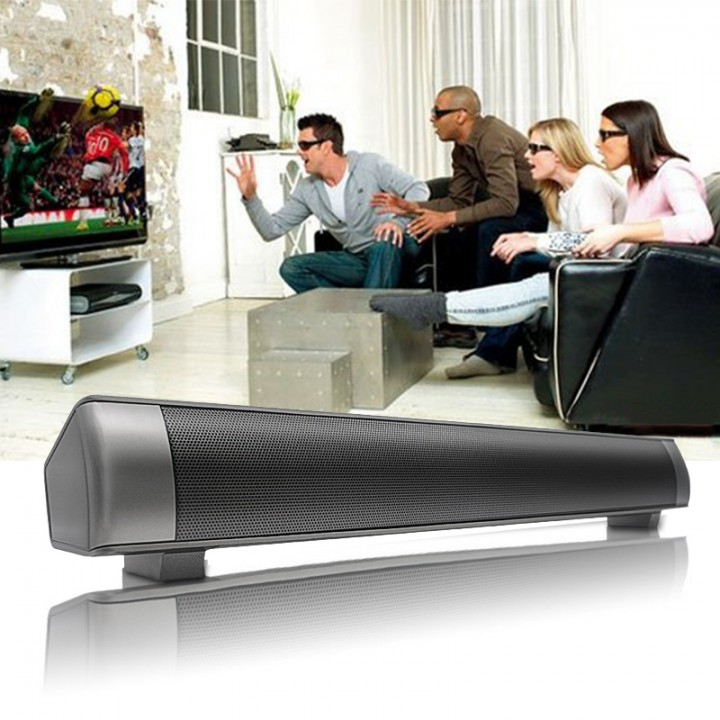 Portable Stereo Super Bass Sound Bar Bluetooth Speaker Wireless Computer TV Speakers Black 400mm*55mm*60mm