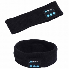 Wireless Bluetooth Hat earphone Headset Headphone sports Yoga Sweat Scarf mp3 play handsfree calls black 18cm*3cm*7cm