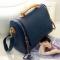 Women PU shoulder bag British crown clutch handbags blue one size