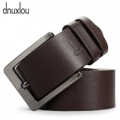 Quality Pin Buckle Male Faux Leather Belt Black Brown Business Brand Belts Metal Buckle Waistband brown
