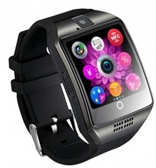 Q18 Smart Watch Smartwatch Bluetooth Sweatproof Phone Camera TF SIM Card Slot Android Smartphones black 1