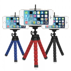 Mini Flexible Sponge Octopus Tripod iPhone Samsung Xiaomi Huawei Phone Smartphone Camera Accessory blue