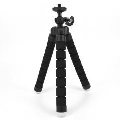 Mini Flexible Sponge Octopus Tripod iPhone Samsung Xiaomi Huawei Phone Smartphone Camera Accessory black