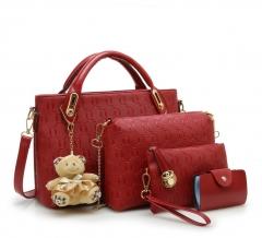 Joyism 6 colors Classic Fashion Women Luxury Handbag PU Leather Genuine Bags red f