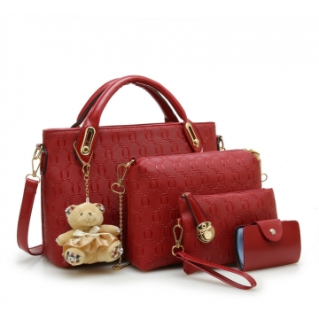 Joyism 6 colors Classic Fashion Women Luxury Handbag PU Leather Genuine Bags red f