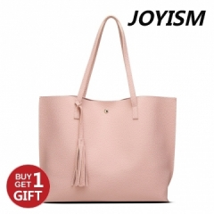 Joyism Handbag Popular Solid Color Fashion Tote Bag,Ladies Shoulder Bag baby pink f