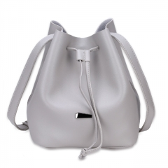 Joyism Strap Dual Purposes Shoulder Crossbody Bucket Bag white f