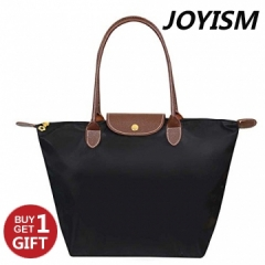 Joyism Women's Waterproof Foldable Tote Shoulder Bag black f