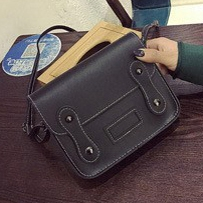 Joyism 6  colors Classic Fashion Women Handbag PU Leather  cambridge satchel Black f