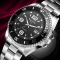 Business classic watch for men luxury fashion stainless steel date display quartz man wrist watches black