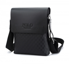 Men business Messenger Bag cross body black male fashion casual single shoulder bags black one size