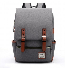2017 Canvas Casual Vintage Large Capacity Travel Bag Hipster Laptop Computer Rucksack Package 01 #