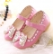 2017 Spring Summer Child Girls Sandals Kids Girls Bow Tie Leather Shoes Princess Girls Shoes pink us 2