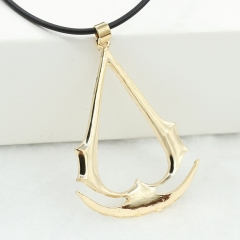 Simple Elegant Assassin's Creed Necklace Fashion Anime Necklace gold one size
