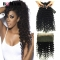 BQ HAIR 8A Deep Wave 360 Lace Frontal with 3 Pieces Brazilian Virgin Hair, Round Frontal Closure natural black 20 20 20 +18